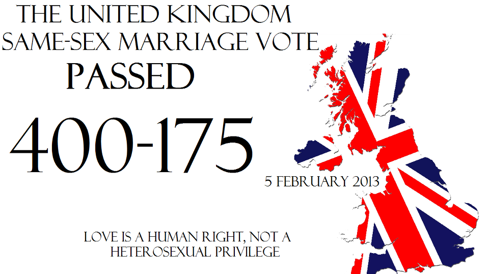 Same sex marriage in uk words