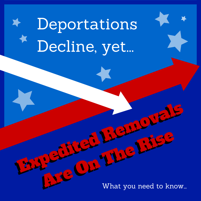 Deportations Decline, Expedited Removals Rise