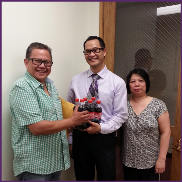 Immigration Client Success Story - Coke brings a smile