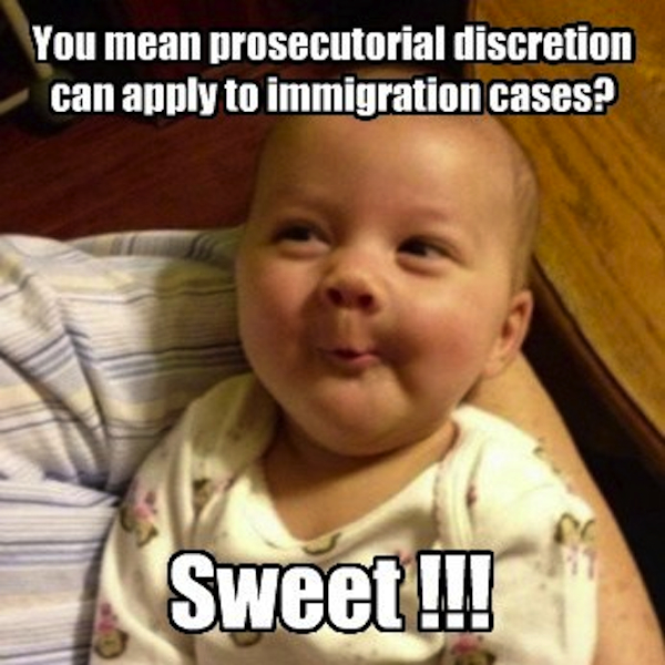 You mean prosecutorial discretion can apply to immigration cases
