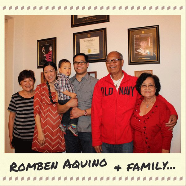 Romben Aquino and family